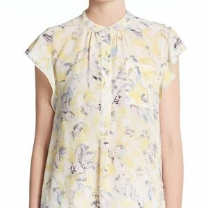 Rebecca Taylor | Floral Silk Blouse